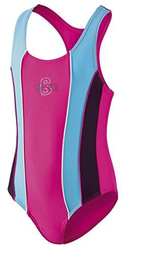 Beco Mädchen Schwimmanzug-Basics, Mehrfarbig (Pink/Blau), Gr. 164 (Herstellergröße : 14 Jahre)