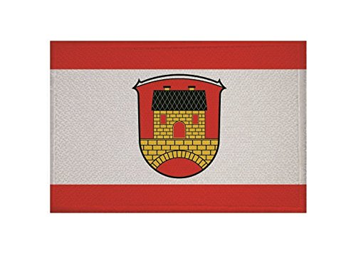 U24 Aufnäher Einhausen (Hessen) Fahne Flagge Aufbügler Patch 9 x 6 cm