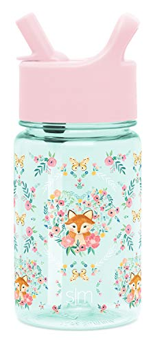 Simple Modern 12oz Summit Kids Tritan Water Bottle with Straw Lid for Toddler - Dishwasher Safe Travel Tumbler - Fox and The Flower