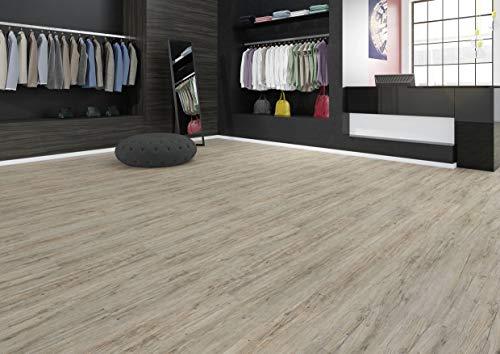 JOKA Hochwertiger Vinylboden/Laminat Dielen PVC zum kleben, Design 555 Nr.: 5518 Grey Driftwood, edle Holzoptik Paket = 3,37 qm mit Musterservice
