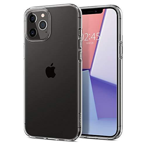 Spigen Liquid Crystal Hülle Kompatibel mit iPhone 12 Pro Max -Crystal Clear