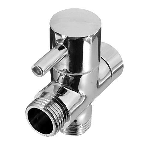 MLPNW 1 unid 1/2 Pulgada Baño Ducha Faucet T Conector Cartucho de cerámica de 3 vías Divertidor DIERTOR Bidet Bidet SHATTAF Tap VÁLVULA (Color : Silver)