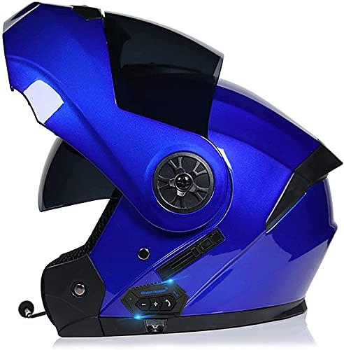 WRMIGN Modular Cascos Bluetooth de rotación tirón Encima Auricular Bluetooth Dual-Altavoz con micrófono Integrado para Auto-Responder ECE Homologado