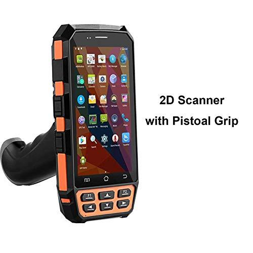 TQ Robuste Portable 5 Pouces terminaux Mobiles WiFi Bluetooth 4G LTE 1D Scanner de Codes à Barres 2D PDA Scanner de Poche avec poignée Pistolet,2dscannerandgrip