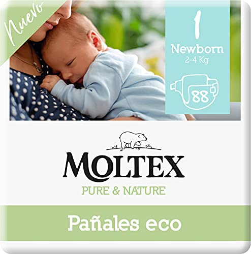 Moltex Pure & Nature Pañales Ecológicos Talla 1 (2-5 kg) - 88 Pañales