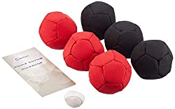 Indoor or outdoor petanque set soft petanque balls are suitable for indoor use Comes complete with rule book and carrying case Fabric Type: Synthetic Leather