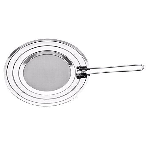 Weis Spritzschutzdeckel einklappbar, Edelstahl, Silber, 48.5 x 30 x 1 cm