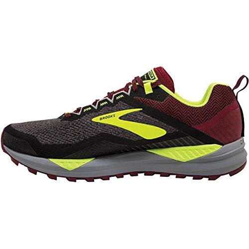 Brooks Cascadia 14, Zapatillas de Running Hombre, Negro (Black/Red/Nightlife 031), 45 EU