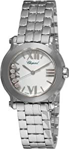 Chopard Women's 278509-3002 Happy Sport Mini Diamond White Dial Watch image