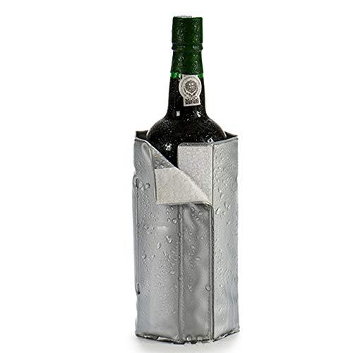 Regalos Estrella Azul Raffreddatore per bottiglie di vino e champagne, regolabile, con velcro