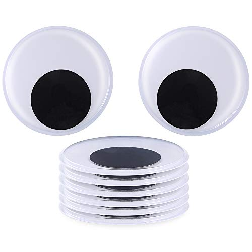 Sntieecr 8 Pack 5.1 Inch(13 cm) Large Giant Wiggle Eyes with Adhesive for Decorations and Craft Making