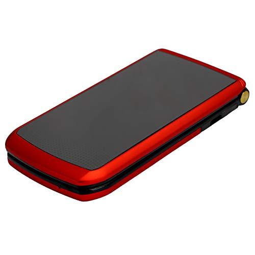 Sojare Mini teléfono móvil con Tapa de 2,4 Pulgadas, 4 Bandas de frecuencia, 32 MB + 32 MB gsm, teléfono móvil de Doble Modo de Espera, 3800 mAh, teléfono de Larga duración(Black)