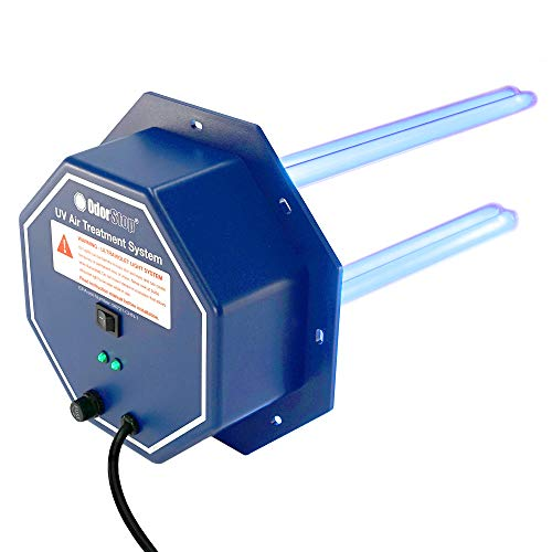 "OdorStop OS72PRO UV Air Purifier - 72 Watt System with Energy Saving Airflow Sensor and 16"" Bulbs"
