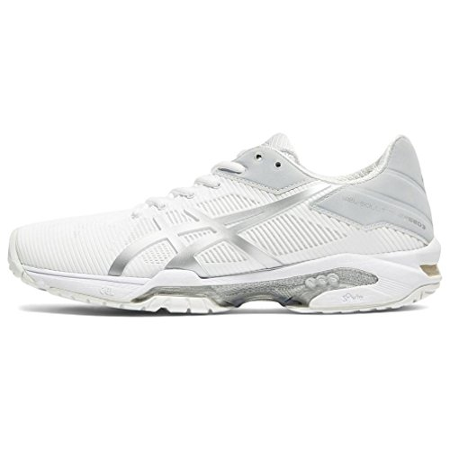 Asics Gel-Solution Speed 3, Zapatillas de Tenis Mujer, Blanco (White/Silver 0193), 39 EU