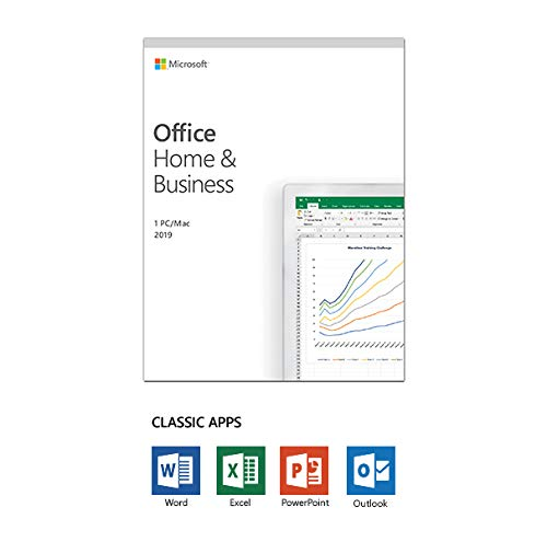 Office 2019 Home and Business Boxed 1 PC or 1MAC Word Excel PowerPoint OneNote Outlook - USA Version