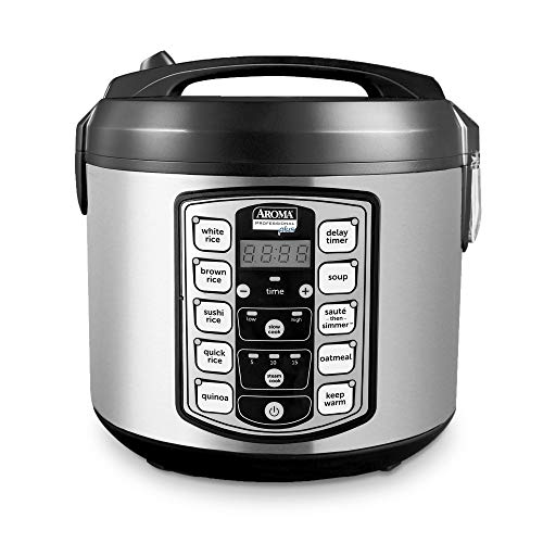 Aroma Housewares Digital Rice Cooker, Food Steamer, Slow Cooker, Grain Cooker