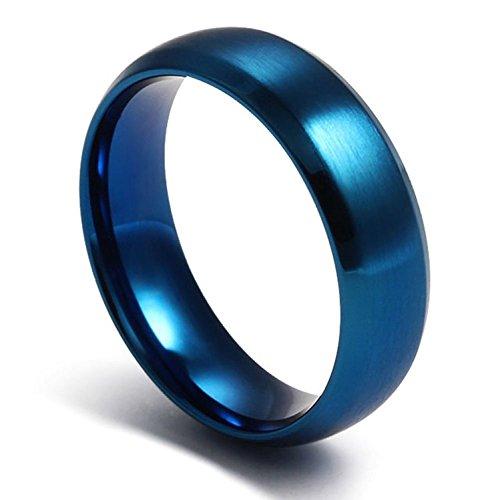 adorningus acero inoxidable anillos de boda para hombres mujeres compromiso anillos, pulido, 6mm ancho