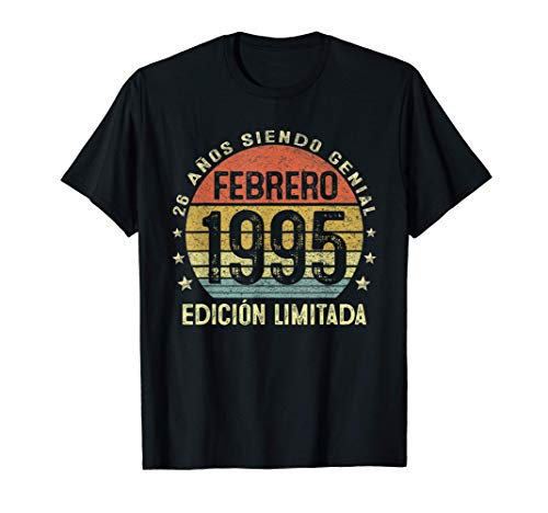 Nacido En Febrero 1995 26 Años Cumpleaños Regalo De 26 Años Camiseta