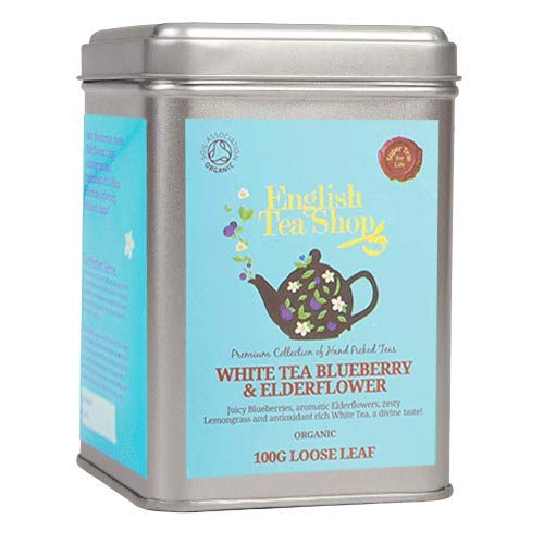 English Tea Shop - White Tea Blueberry & Elderflower, BIO, Loser Tee, 100g Dose