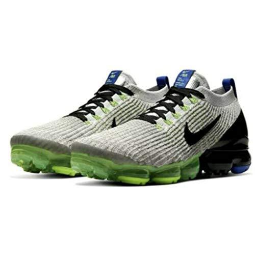 Nike Mens Air Vapormax Flyknit 3 Running Shoes, Vast Grey/Black/Dark Stucco, 12