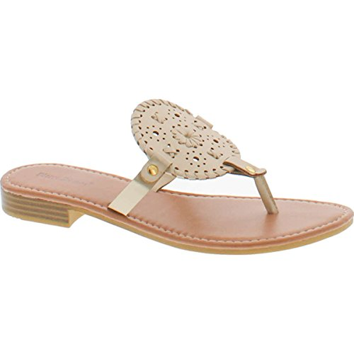 Pierre Dumas Womens Rosetta-7 Fashion Sandal,Gold,5.5