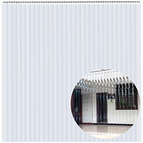 VEVOR 30PCS PVC Vinyl Strip Curtain 10 x 8 Feet (W x H), Vinyl Door Curtain Strips 2mm Thickness, Vinyl Strip Door Curtain with 5cm Overlap, for Freezer Doors Warehouse Doors