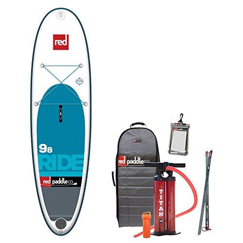 Red Paddle Co 2017 - Juego de paddle board hinchable con soporte + bolsa, bomba, pala y correa