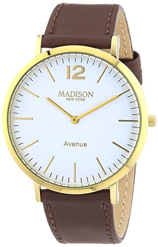 MADISON NEW YORK Avenue G4741E2 - Orologio da polso unisex, cinturino in...