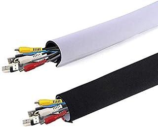 AGPTEK universell neopren kardborrband kabelslang kabelledning av neopren flexibel och återanvändbar med kardborrband, 150...