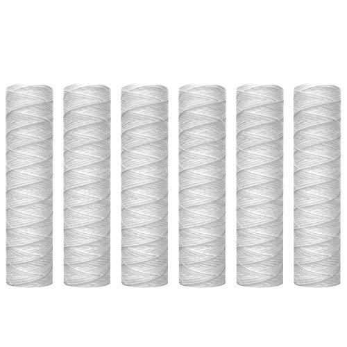 Moligh doll 10 Mikrometer String Wunde Sediment Wasser Filter Patrone, 6 Pack, Ganz Haus Sediment Filtration, Universal