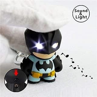 RULONG Superhero Batman Led Keychain Flashlight Pendant Key Figure Keyrings Cool Gift