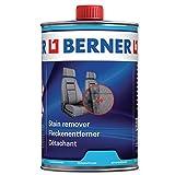Berner Smacchiatore sedili Auto, per Uso Professionale, per la Pulizia di sedili, tappeti e Tutti Gli Altri Tessuti Presenti nel Veicolo da 1 litro, Il Panno è compreso nella Confezione