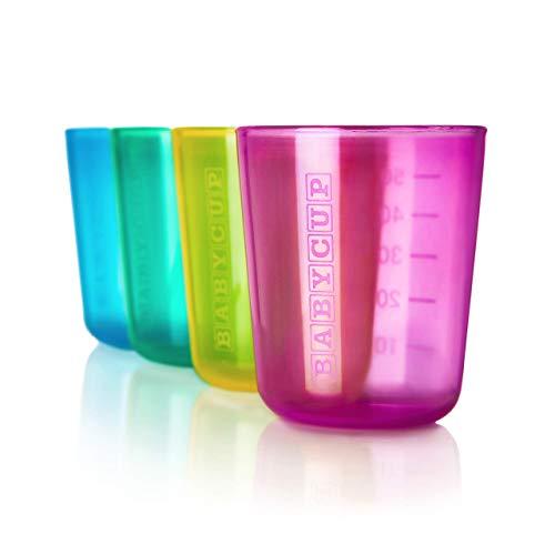 New Babycup – Erste Tasse für Kinder, 100% recycelbar, 4 Stück, 50 ml (mehrfarbig)