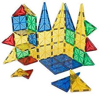 مجموعة جولي ماجز المغناطيسية - مكعبات البناء ثلاثية الابعاد مع مغناطيس للاطفال - الافضل للتراص- لون شفاف مجموعة من 32 قطعة