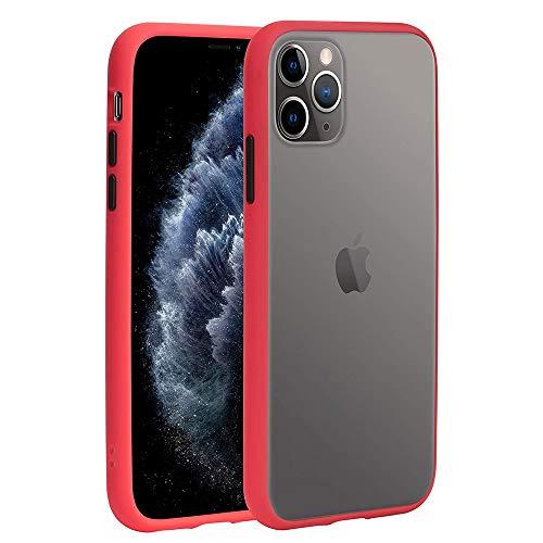 """Keyihan Coque pour Apple iPhone 12 Mini 5,4"""" Cuir Amitique Translucide Mat 360 degrés Full Body Protection Coque souple Bumper et Arrière Rigide Antichoc Anti-rayures (Rouge)"""