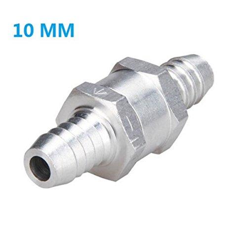 Lenmumu Non Return One Way Check Valve Prevent Oil Petrol Diesel Water, Aluminium Alloy (10mm (3/8