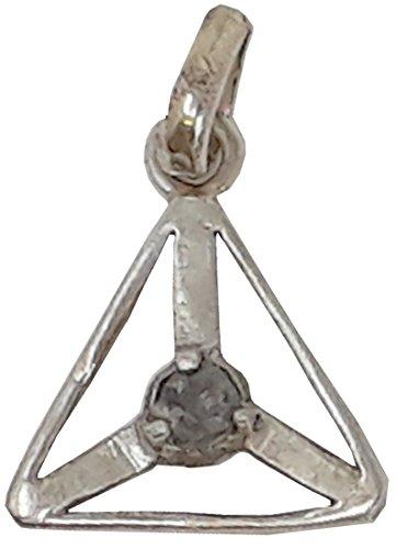 Rohdiamant Anhänger Triangel im Geschenkset mit Lederkette