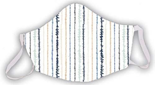 Mascarilla reutilizable blanca estampado rayas colores original divertida elegante hombres mujeres