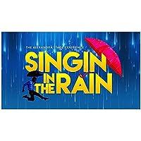 Weuewq 雨の中で歌う映画のポスターとプリントキャンバスの背景壁アート写真の装飾リビングルームホームギフト-24X36インチフレームなし