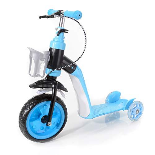 BABY-PLUS 2in1 Scooter Kinderroller Scooter mit Sitz Kickroller 3Rad Roller 3Rad Laufrad