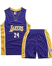 SHPP Kobe Bryant # 24 Los Angeles Lakers - Pantalones Cortos de Baloncesto para Adultos para Hombres Conjunto de Ropa Deportiva de Jersey Tops y Pantalones Cortos (XS-XXL)