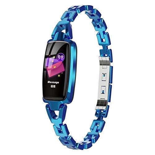 Smart Watch Women Monitor Bluetooth IP67 Waterproof Lady Smart Bracelet Lady, Blue