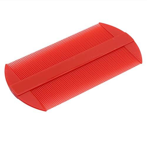 N-K 1 peine de dientes fino portátil para eliminar la caspa, color rojo, práctico y popular.