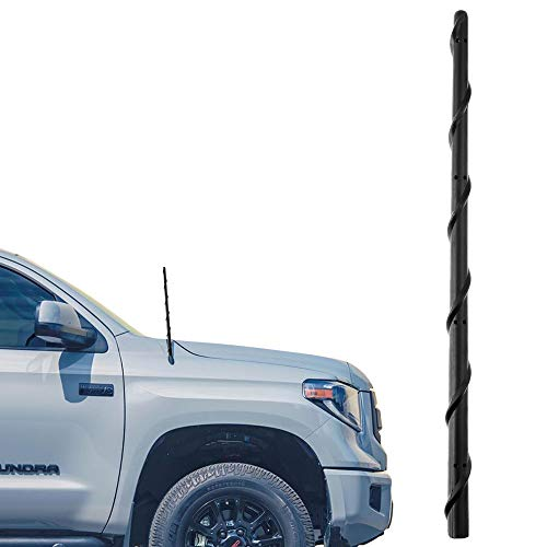 VOFONO 13 Inch Antenna Compatible with Toyota Tundra (2000-2021) & Tacoma (2000-2015) - Car Wash Safe Flexible Rubber Antenna Replacement - Spiral Antenna Designed for Optimized FM/AM Reception