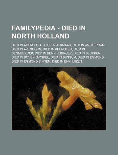 Familypedia - Died in North Holland: Die
