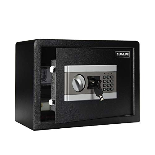 Jovilife 0.8Cubic Fireproof Safe Digital Electronic Safe Security Box,Best Money Safe, Steel Strongbox with Keypad Fireproof Safe Waterproof–Protect Money, Guns, Jewelry, Documents, Passports