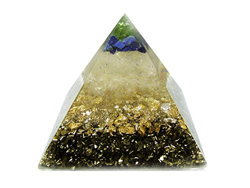 emotion & design Orgonit Pyramide - Edelsteine und viel Messing