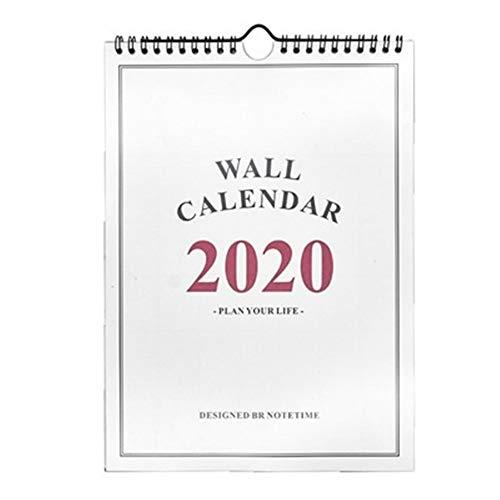 Calendario de Pared 2020 años del Calendario planificador Diario Good Day Agenda Organizador de Dibujos Animados...