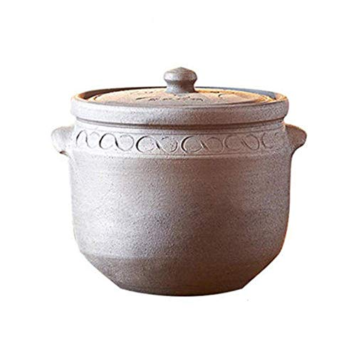 LIUSHI Ollas de Barro Olla para estofado de Terracota Ollas de cerámica para cocinar, duraderas y fáciles de Limpiar, 7 litros