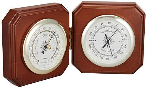 エンペックス気象計 温度湿度計 デュエット気象計 置き用 日本製 ブラウン BM-718
